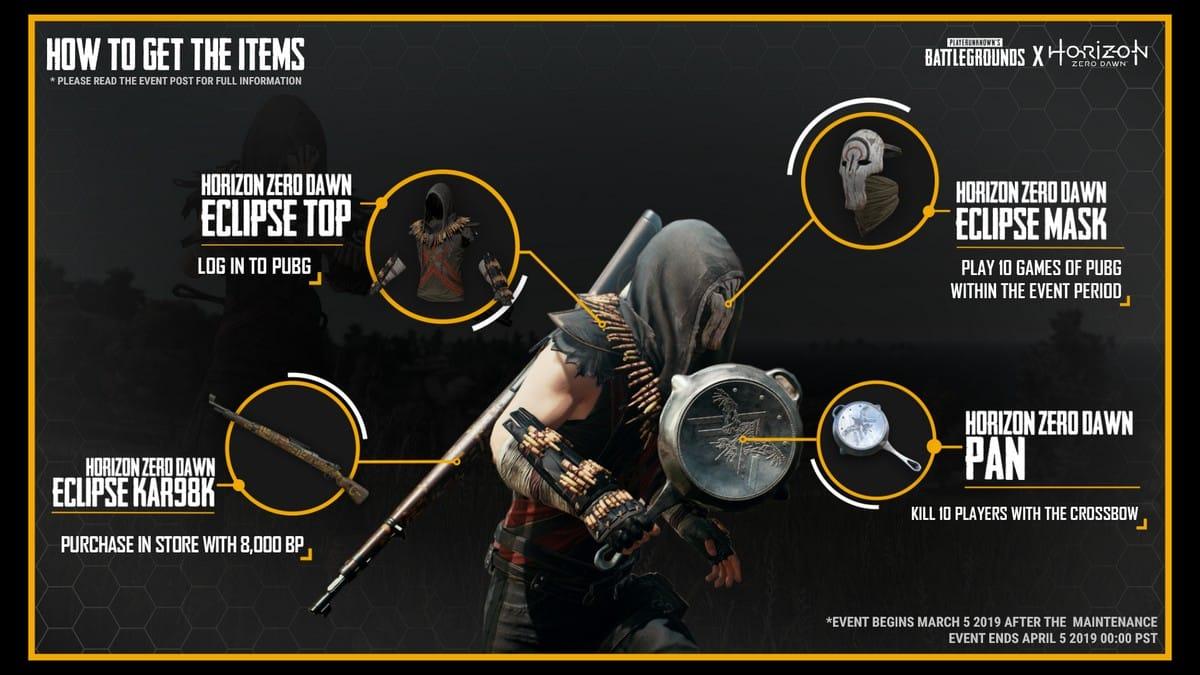 hzd infographic EN 190227 - PUBG แจกสกินเกม Horizon Zero Dawn บน PS4 ฟรี