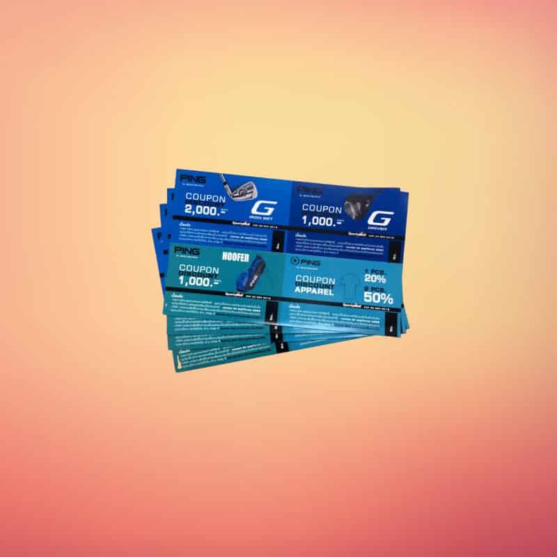 coupon 6 2 - บริการ พิมพ์คูปอง Gift Voucher บัตรกำนัล บัตรส่วนลดสินค้า บริการ ในลาดพร้าว กรุงเทพ
