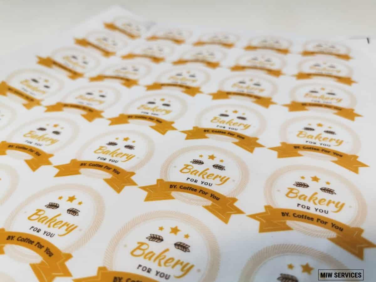 miwservices sticker 00003 - ตัวอย่างงานพิมพ์สติ๊กเกอร์ร้าน Bakery for You by Coffee for You