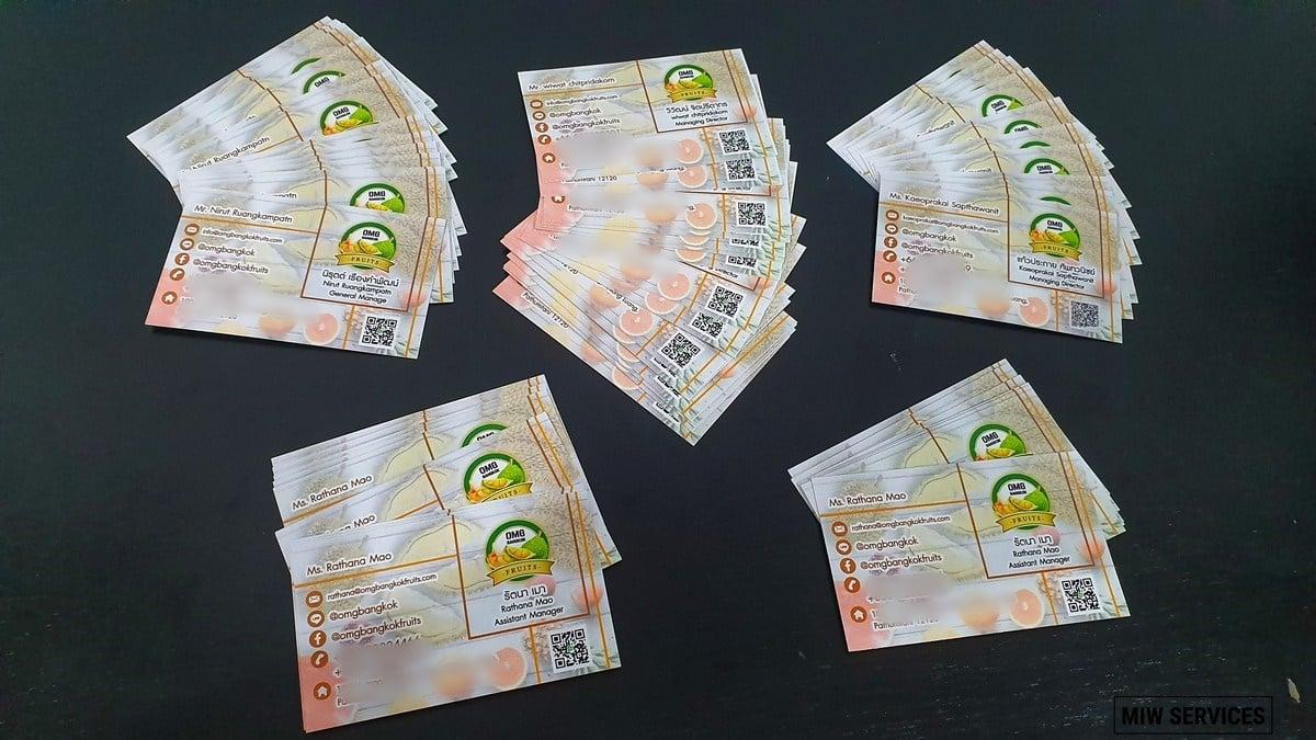 20190705 103602 01 - ตัวอย่างงานพิมพ์นามบัตร OMG Bangkok Fruits