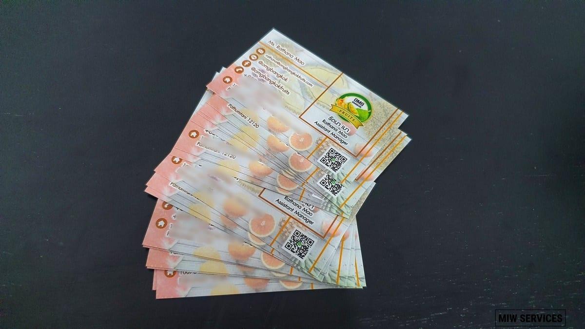 20190705 104040 01 - ตัวอย่างงานพิมพ์นามบัตร OMG Bangkok Fruits