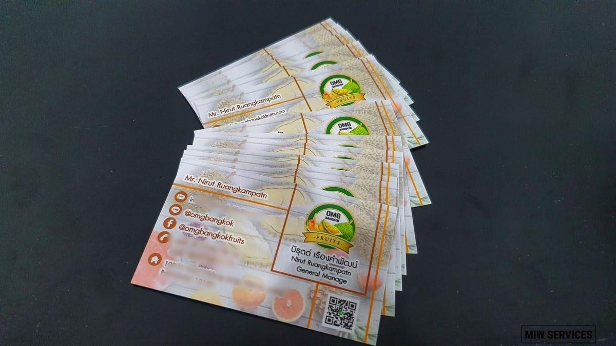 20190705 104128 01 - ตัวอย่างงานพิมพ์นามบัตร OMG Bangkok Fruits
