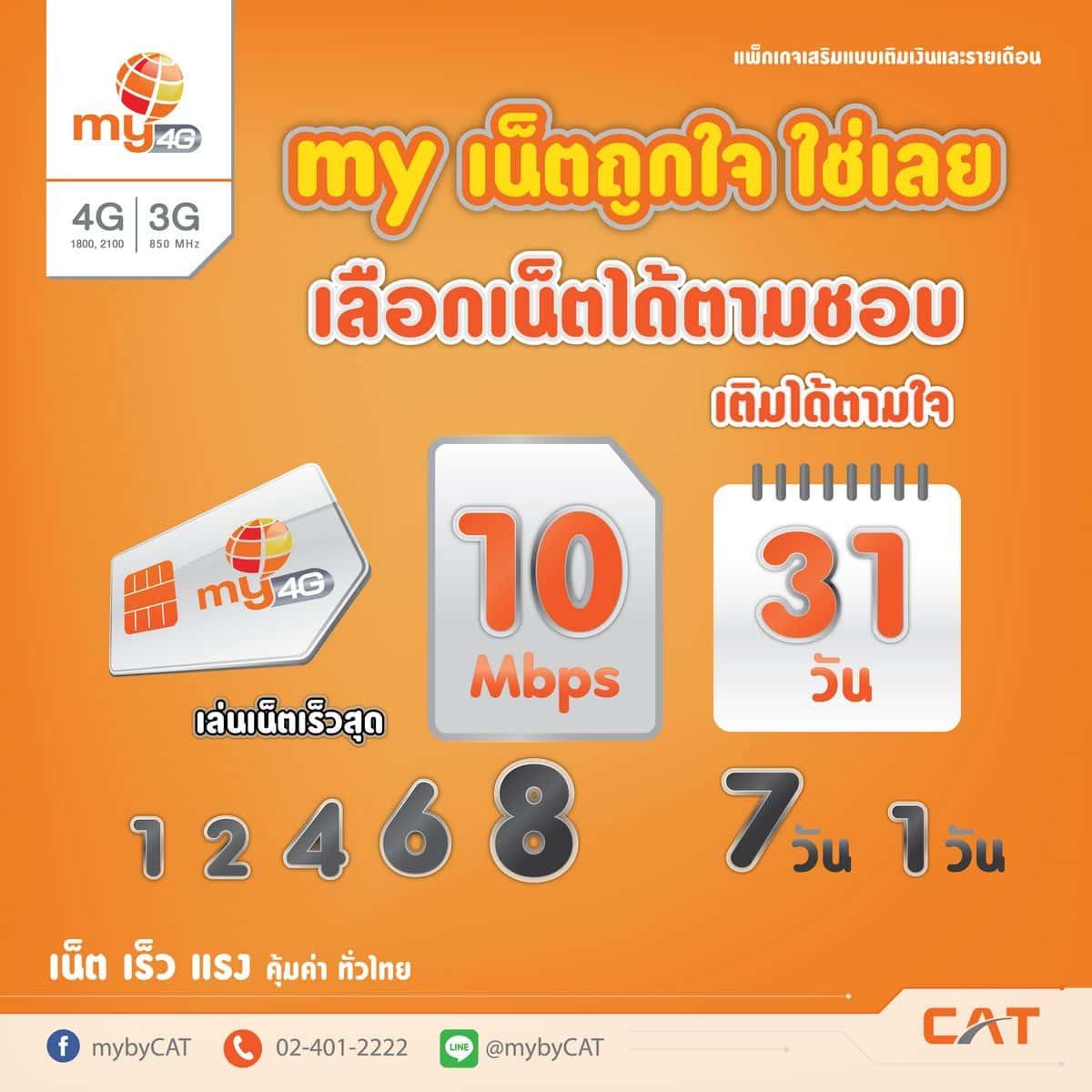 """mybyCAT 02 - my by CAT ออกแพ็กเกจใหม่ """"my เน็ตถูกใจ"""" และ """"my เน็ตใช่เลย"""" วันละ 25 บาท"""