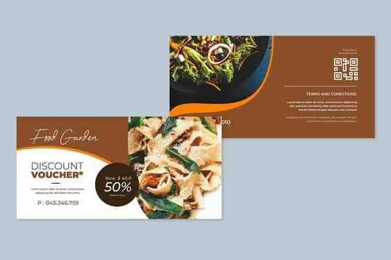 1 3261bd238e8fff878248de4cd0edc0d0 - 10 ตัวอย่างงานออกแบบคูปองส่วนลดร้านอาหารแบบต่างๆ