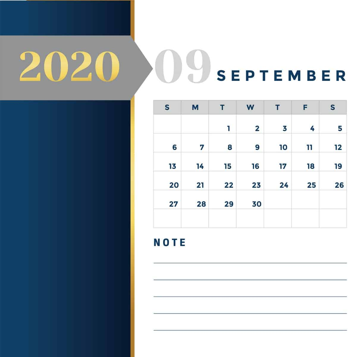 Calendar Miw Services 09 - แจกฟรี! ภาพปฏิทิน 2563 ครบ 12 เดือน พร้อมวันหยุดราชการไทย (PNG, PDF)