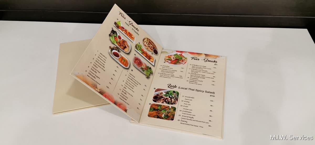 351501 - รับพิมพ์เมนูอาหาร ราคาถูก ไม่มีขั้นต่ำ พิมพ์ด่วน ด้วยงานคุณภาพ จัดส่งทั่วประเทศ