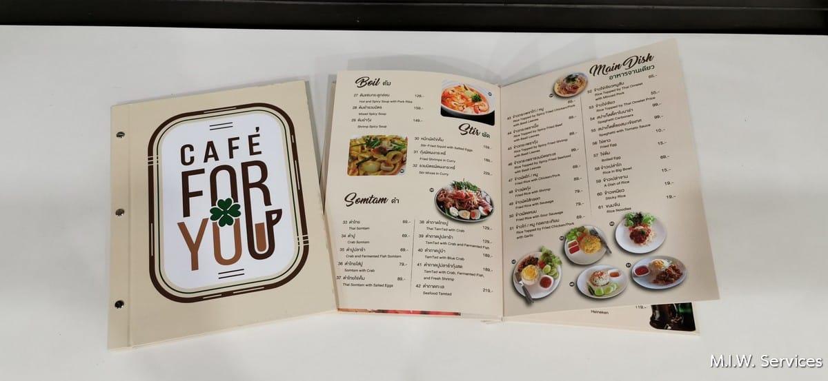 351507 - ตัวอย่างเมนูอาหารหุ้มจั่วปังร้าน Café for you