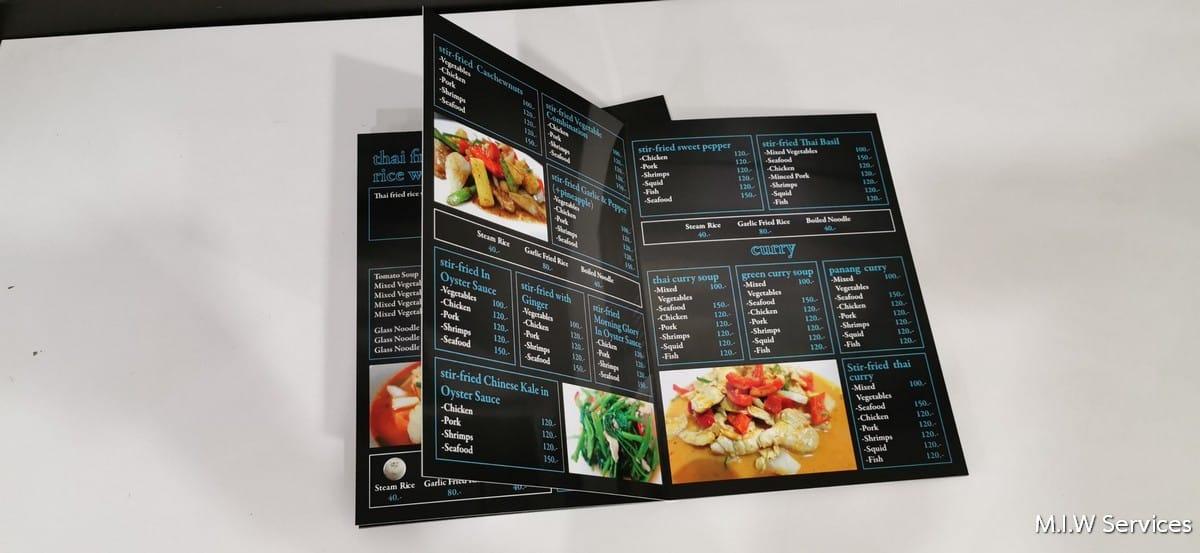 358168 - ตัวอย่างเมนูอาหารร้าน Coral Cove Resort เกาะสมุย