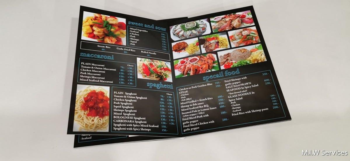 358169 - ตัวอย่างเมนูอาหารร้าน Coral Cove Resort เกาะสมุย
