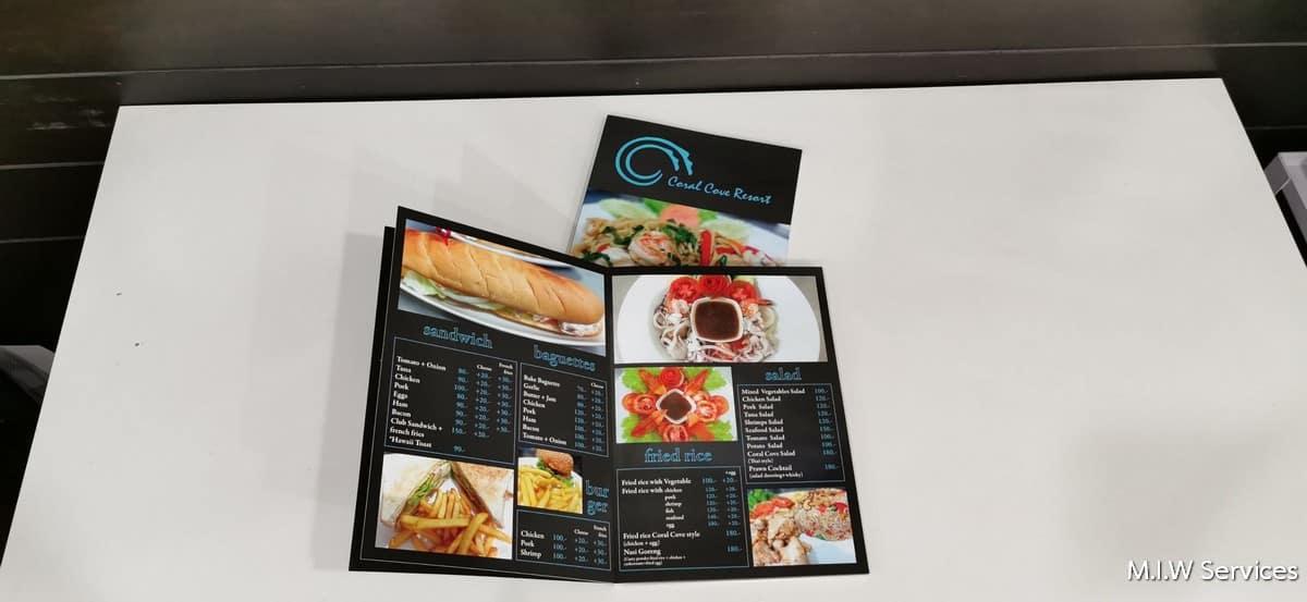 358170 - ตัวอย่างเมนูอาหารร้าน Coral Cove Resort เกาะสมุย