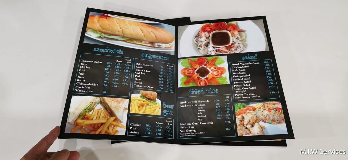 358172 - ตัวอย่างเมนูอาหารร้าน Coral Cove Resort เกาะสมุย