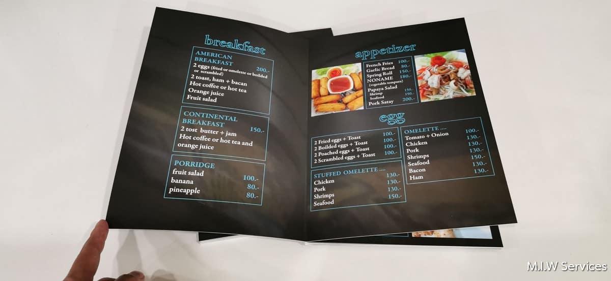 358173 - ตัวอย่างเมนูอาหารร้าน Coral Cove Resort เกาะสมุย