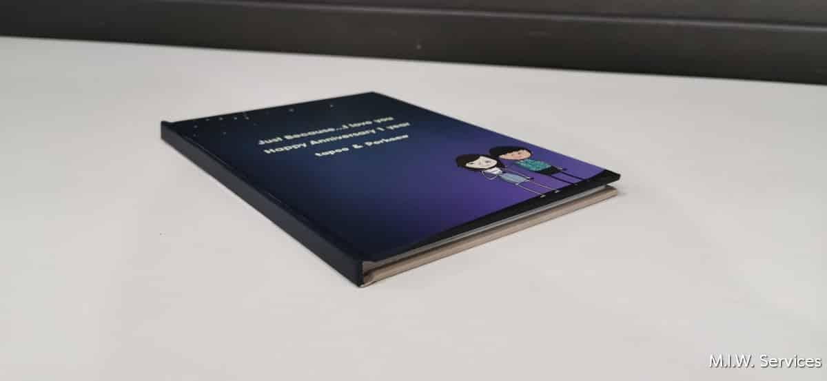 Book 00002 - ตัวอย่างงานพิมพ์หนังสือที่ระลึกวันครบรอบ (Happy 1 year anniversary)