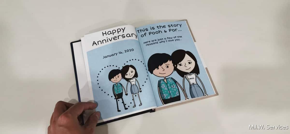 Book 00003 - ตัวอย่างงานพิมพ์หนังสือที่ระลึกวันครบรอบ (Happy 1 year anniversary)