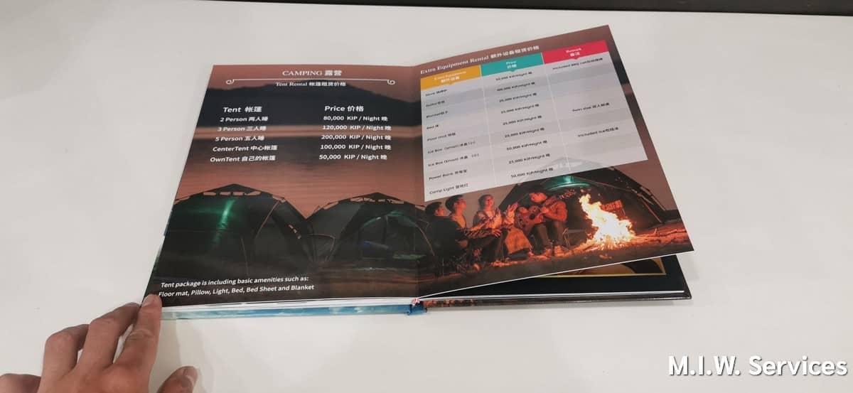 catalog 00006 - ตัวอย่างงานพิมพ์หนังสือแค็ตตาล็อก แดนสะหวันน้ำงึมรีสอร์ท