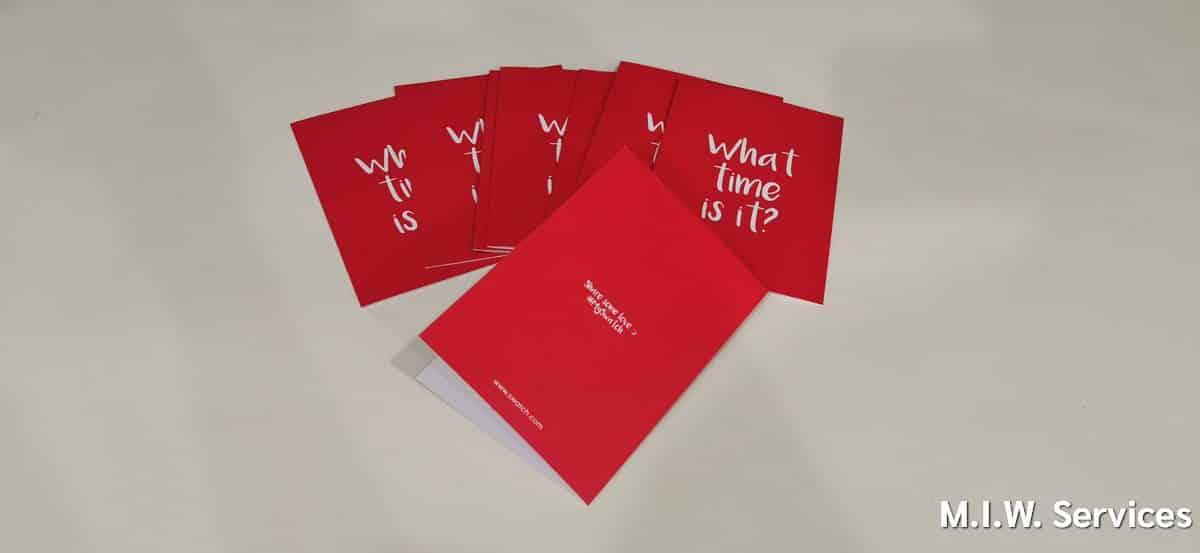 invitation 00003 - ตัวอย่างงานพิมพ์การ์ดอวยพร: What time is it ? - Swatch ประเทศไทย