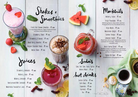 menu 02 - พิมพ์เมนูเครื่องดื่มยังไงให้ดูสวยงาม และดึงดูดให้ลูกค้าสั่ง