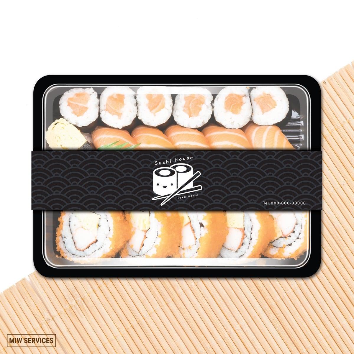 Food Box 02 0 - บริการ พิมพ์สายคาดกล่องอาหาร กล่องขนม สำหรับ Food Delivery
