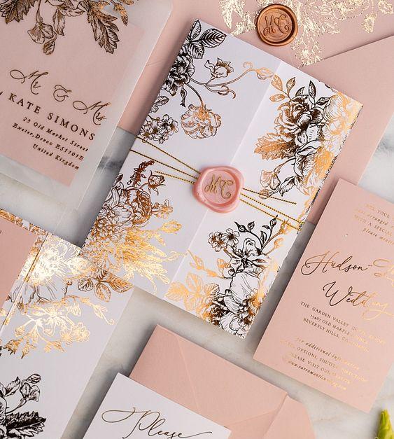 wedding card 05 - พาชม 10 ตัวอย่างการ์ดเชิญงานแต่ง ที่ออกแบบมาสวยหรู ดูไฮโซ