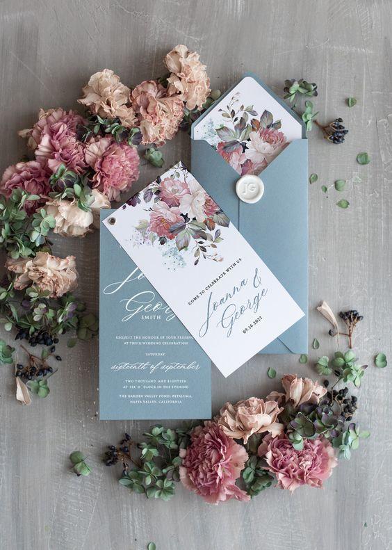 wedding card 08 - พาชม 10 ตัวอย่างการ์ดเชิญงานแต่ง ที่ออกแบบมาสวยหรู ดูไฮโซ