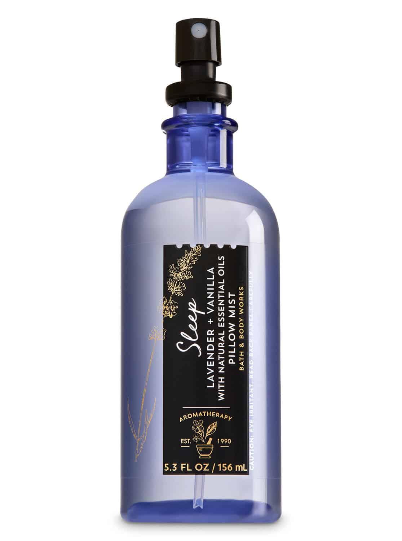 Bath and Body Works Sleep Lavender vanilla Pillow Mist 01 - 9 ไอเทมเด็ด ช่วยแก้ปัญหานอนไม่หลับ ให้หลับสบาย หมดปัญหานอนน้อย