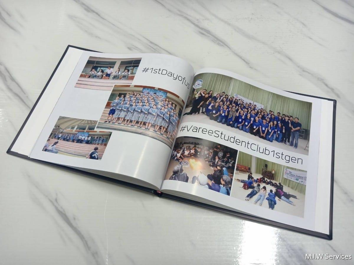 varee yearbook 00003 - ตัวอย่างงานพิมพ์หนังสือรุ่น หนังสือทำเนียบรุ่น: สโมสรนักเรียนวารี