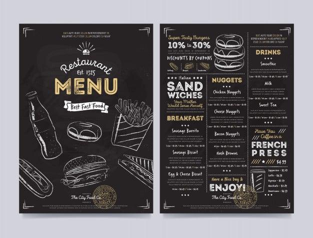 Menu Template 02 - แจกฟรี เทมเพลตเมนูอาหาร (Menu Template) สำหรับร้านอาหาร