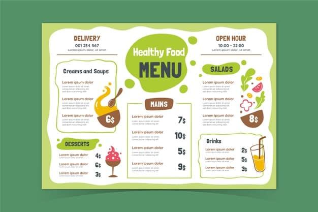 Menu Template 05 - แจกฟรี เทมเพลตเมนูอาหาร (Menu Template) สำหรับร้านอาหาร