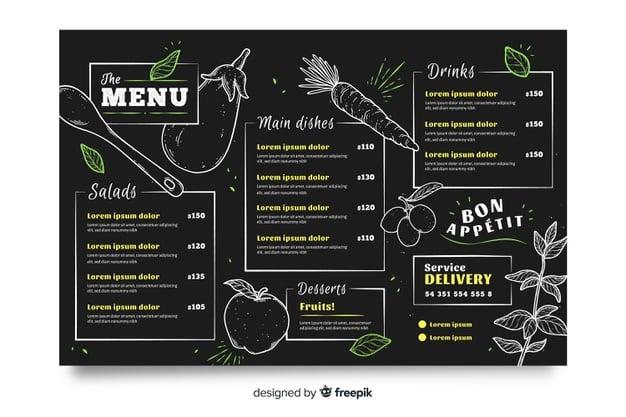 Menu Template 06 - แจกฟรี เทมเพลตเมนูอาหาร (Menu Template) สำหรับร้านอาหาร