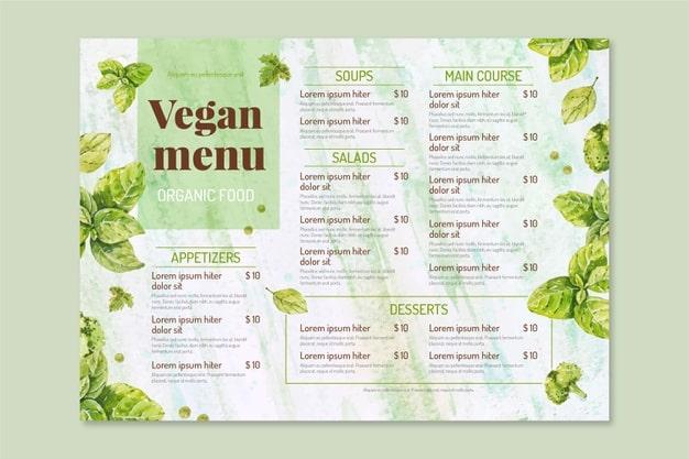 Menu Template 08 - แจกฟรี เทมเพลตเมนูอาหาร (Menu Template) สำหรับร้านอาหาร