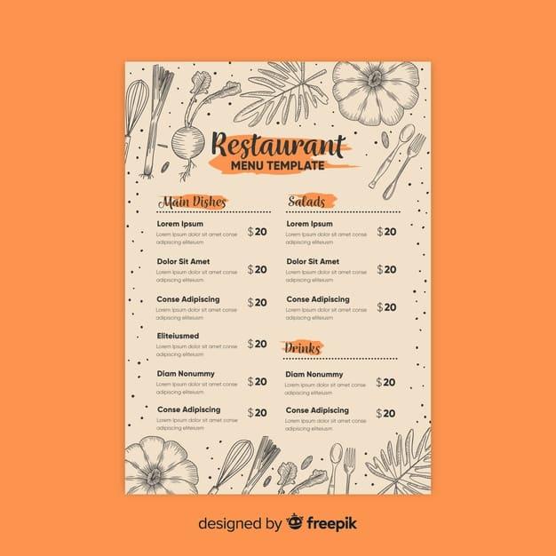 Menu Template 11 - แจกฟรี เทมเพลตเมนูอาหาร (Menu Template) สำหรับร้านอาหาร