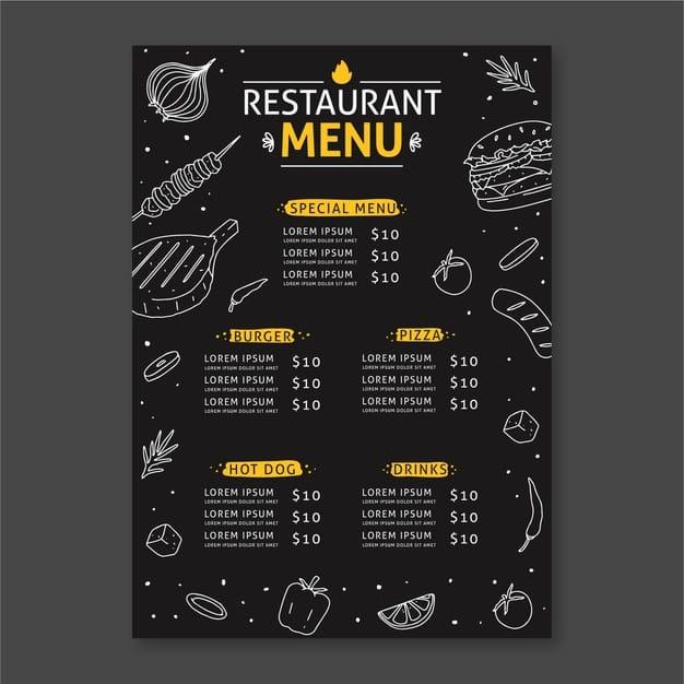 Menu Template 12 - แจกฟรี เทมเพลตเมนูอาหาร (Menu Template) สำหรับร้านอาหาร