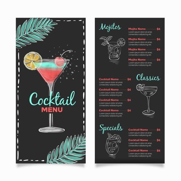 Menu Template 13 - แจกฟรี เทมเพลตเมนูอาหาร (Menu Template) สำหรับร้านอาหาร