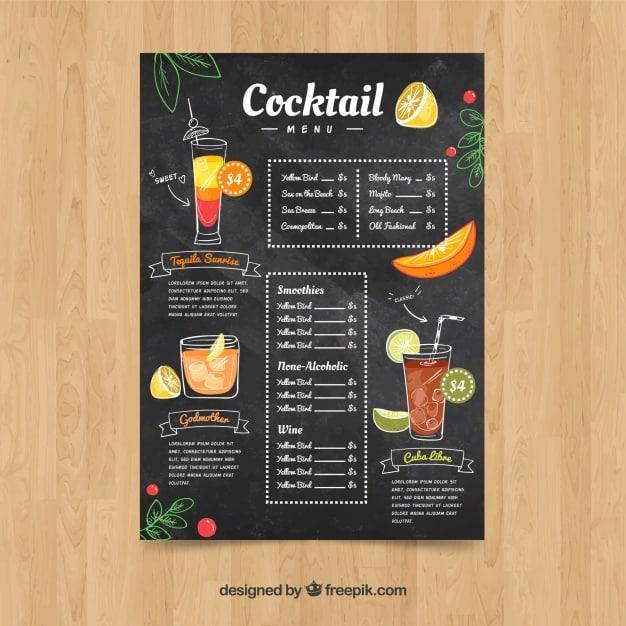 Menu Template 14 - แจกฟรี เทมเพลตเมนูอาหาร (Menu Template) สำหรับร้านอาหาร