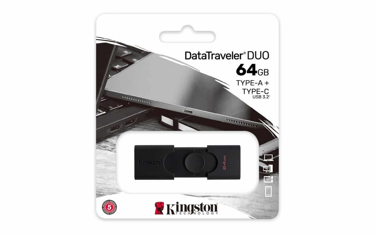 Kingston DataTraveler Duo Package 01 - Kingston เปิดตัว DataTraveler Duo รองรับการเชื่อมต่อทั้ง USB Type-A และ Type-C